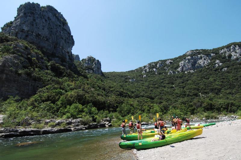 Camping dans les Gorges de l'Hérault